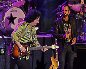 FORT LAUDERDALE, FL - NOVEMBER 07: Steve Lukather and Ringo Starr of Ringo Starr & His All-Starr Band perform at The Parker Playhouse on November 7, 2017 in Fort Lauderdale Florida. Credit Larry Marano © 2017