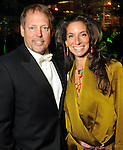 Michael and Lisa Holthouse at the Gala on the Green benefitting the Discovery Green Conservancy Saturday Feb. 27,2010. (Dave Rossman Photo)