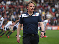 Bolton Wanderers manager Phil Parkinson at the start of todays match<br /> <br /> Photographer Rachel Holborn/CameraSport<br /> <br /> The EFL Sky Bet Championship - Barnsley v Bolton Wanderers - Saturday 14th April 2018 - Oakwell - Barnsley<br /> <br /> World Copyright &copy; 2018 CameraSport. All rights reserved. 43 Linden Ave. Countesthorpe. Leicester. England. LE8 5PG - Tel: +44 (0) 116 277 4147 - admin@camerasport.com - www.camerasport.com