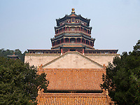 Foxiang Ge-Pagode im Sommerpalast, Yi He Yuan, in Peking, China, Asien, UNESCO-Weltkulturerbe<br /> Foxiang Ge Pagoda  in the summerpalace, Yi He Yuan,Beijing, China, Asia, world heritage