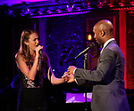 "Maddie Shea Baldwin and Donald Webber Jr. on stage during a Song preview performance of the BeBe Winans Broadway Bound Musical ""Born For This"" at Feinstein's 54 Below on November 5, 2018 in New York City."