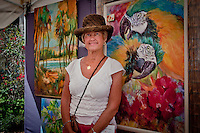 Watercolorist Priscilla Powers at the 2nd Annual Mercato Fine Arts Festival at the Mercato Shopping Center, US 41, hosted by The von Liebig Art Center and The Greater Naples Chamber of Commerce, Naples, Florida, USA, March 5, 2011. Photo by Debi PIttman Wilkey