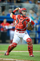 Batavia Muckdogs catcher Jesus Montero #55 during a game against the Brooklyn Cyclones at Dwyer Stadium on July 27, 2012 in Batavia, New York.  Batavia defeated Brooklyn 2-0.  (Mike Janes/Four Seam Images)