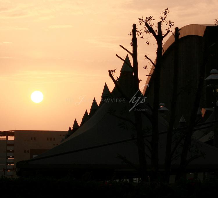 Sunset over the West Bay, Doha Qatar   Mar 10