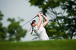 CHON BURI, THAILAND - FEBRUARY 17:  Paula Creamer of USA tees of on the 12th hole during day two of the LPGA Thailand at Siam Country Club on February 17, 2012 in Chon Buri, Thailand. Photo by Victor Fraile / The Power of Sport Images