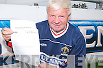 John ORegan, Hon Secretary Kerry District League, with the application form to enter the League of Ireland 2008 A Championship..