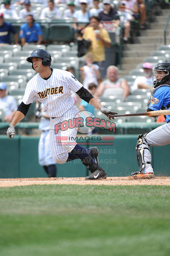 Trenton Thunder infielder Rob Segedin (26) during game against the Akron RubberDucks at ARM & HAMMER Park on July 14, 2014 in Trenton, NJ.  Akron defeated Trenton 5-2.  (Tomasso DeRosa/Four Seam Images)