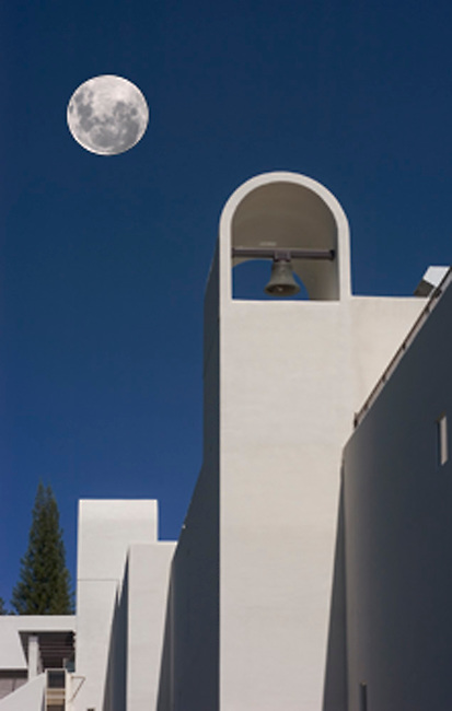 Sterling Vineyards, Calistoga, CA, built in 1970s and  resembles architecture of Greek Monastary.