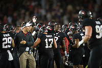 STANFORD, CA - The Stanford Cardinal advances to a 5-0 season record with a win over the University of Washington at Stanford Stadium.
