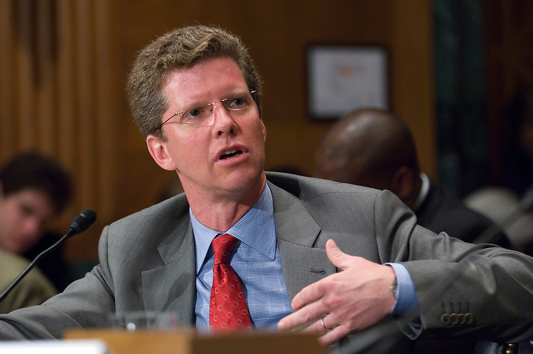 WASHINGTON, DC - June 16: House and Urban Development Secretary Shaun Donovan during the Senate Banking hearing on sustainable development and economic growth. (Photo by Scott J. Ferrell/Congressional Quarterly)