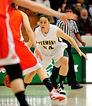 13 December 2009: University of Vermont Catamounts' guard/forward Kendra Seto, a Freshman from Oshawa, Ontario, in action against the Oklahoma State University Cowgirls at Patrick Gymnasium in Burlington, Vermont. The Catamounts were unable to hold onto a second half lead, falling to the Cowgirls 68-63. Mandatory Credit: Ed Wolfstein Photo