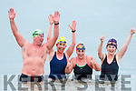 Kevin Williams, Mags O'Sullivan, Elaine Burrows and Margaret Gilbert taking the Polar Plunge for the Special Olympics at Fenit on Saturday morning.