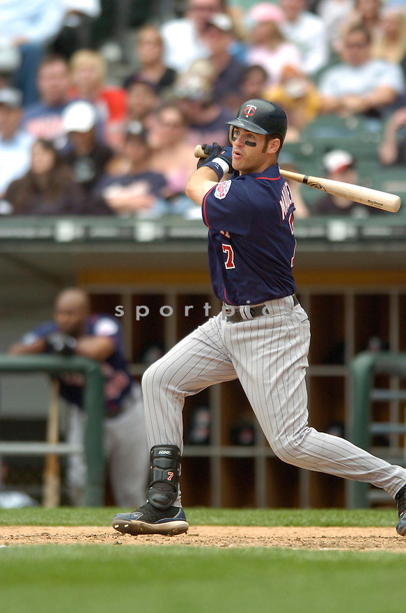 Joe Mauer, of the Minnesota Twins, during their game against the Chicago White Sox on April 23, 2006 in Chicago...Sox  win 7-3..David Durochik / SportPics