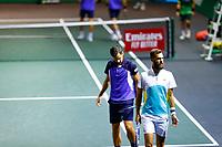 Rotterdam, The Netherlands, 12 Februari 2020, ABNAMRO World Tennis Tournament, Ahoy, Doubles: Benoit Paire (FRA) and Mate Pavic (CRO).<br /> Photo: www.tennisimages.com
