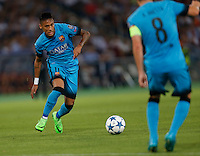 Barcellona's Neymar during the Champions League Group E soccer matchagainst AS Roma    at the Olympic Stadium in Rome September 16, 2015