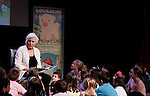 Olympia Dukakis (Search for Tomorrow) reads to the children at Loukoumi & Friends Concert held on June 23, 2014 at the Scholastic Theatre, New York City, New York.  Proceeds will benefit The Loukoumi Make a Difference Foundation. Foundation first project will be the Make A Difference with Loukoumi television special airing on FOX stations Oct 19-20. (Photo by Sue Coflin/Max Photos)