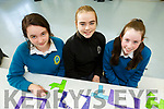 Having a puzzling time in Mercy Mounthawk and enjoying Maths involving various maths initiatives on Monday. <br /> L-r, Aine O&rsquo;Shea, Shona Griffin and Katie Prendiville,