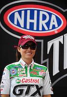 Nov. 2, 2008; Las Vegas, NV, USA: NHRA funny car driver Ashley Force during the Las Vegas Nationals at The Strip in Las Vegas. Mandatory Credit: Mark J. Rebilas-