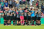 11.08.2019, Stadion Lohmühle, Luebeck, GER, DFB-Pokal, 1. Runde VFB Lübeck vs 1.FC St. Pauli<br /> <br /> DFB REGULATIONS PROHIBIT ANY USE OF PHOTOGRAPHS AS IMAGE SEQUENCES AND/OR QUASI-VIDEO.<br /> <br /> im Bild / picture shows<br /> Schlusskreis des FC St. Pauli nach dem Abpfiff.<br /> <br /> Foto © nordphoto / Tauchnitz
