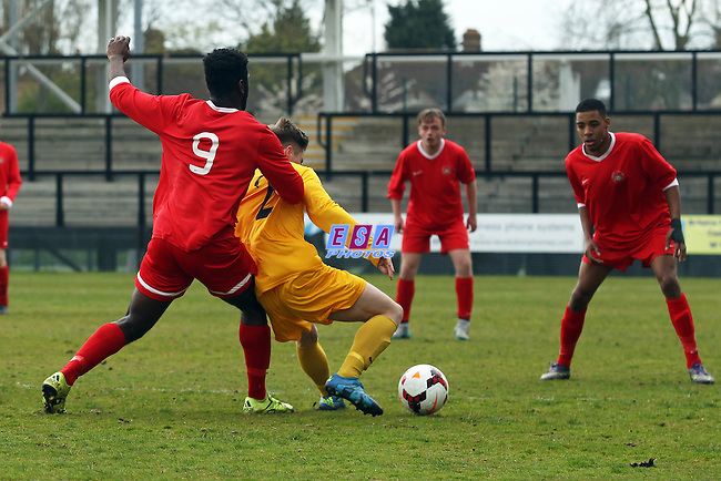 LONDON v SUSSEX<br /> SOUTH EAST COUNTIES CHAMPIONSHIP U18 SUNDAY 24TH APRIL 2016 TOOTING AND MITCHAM FC