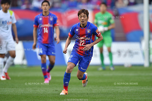 Naotake Hanyu (FC Tokyo), APRIL 18, 2015 - Football /Soccer : 2015 J1 League 1st stage match between F.C. Tokyo 1-2 Sanfrecce Hiroshima at Ajinomoto Stadium in Tokyo, Japan. (Photo by AFLO)