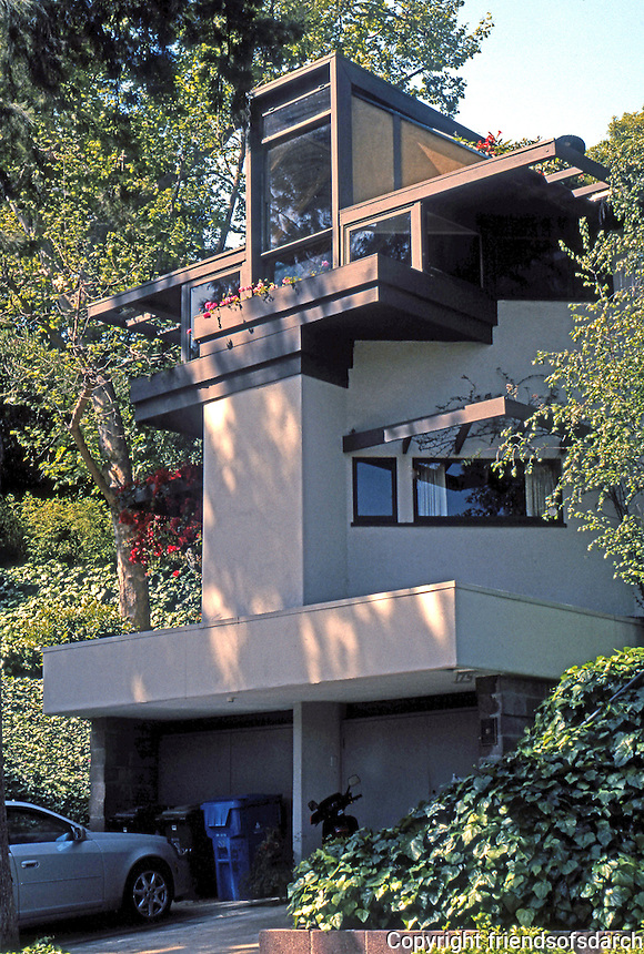 Rudolph Schindler: Tischler House, 175 Greenfield Ave., Westwood, Los Angeles. 1949