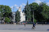 Kathedralenplatz in Vilnius, Litauen, Europa, Unesco-Weltkulturerbe