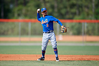 New York Mets Andres Gimenez (3) during a Minor League Spring Training intrasquad game on March 29, 2018 at the First Data Field Complex in St. Lucie, Florida.  (Mike Janes/Four Seam Images)