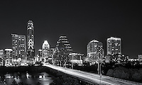 This is an image of the Ann Richards Congress bridge with the Austin Skyline at night in black and white.  I thought we should show case some of our bw images.  For more of these images go to our Black & White images under cityscapes.