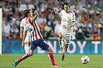 Real Madrid's Angel Di Maria (r) and Atletico de Madrid's Gabi Fernandez during the UEFA Champions League 2013/2014 Final match.May 24,2014. (ALTERPHOTOS/Acero)