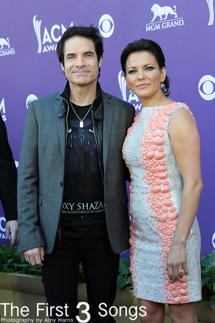 Train's Patrick Monahan and Martina McBride attend the 47th Annual Academy of Country Music Awards in Las Vegas, Nevada on April 1, 2012.