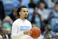 CHAPEL HILL, NC - FEBRUARY 1: Cole Anthony #2 of the University of North Carolina during a game between Boston College and North Carolina at Dean E. Smith Center on February 1, 2020 in Chapel Hill, North Carolina.
