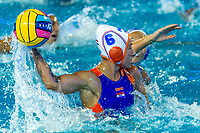 6 STOMPHORST Nomi Lisa NED goal <br /> NED - GRE Netherlands (white caps) vs. Greece (blue caps) <br /> Barcelona 27/07/2018 Piscines Bernat Picornell <br /> Women Final 1st 2nd place <br /> 33rd LEN European Water Polo Championships - Barcelona 2018 <br /> Photo Andrea Staccioli/Deepbluemedia/Insidefoto