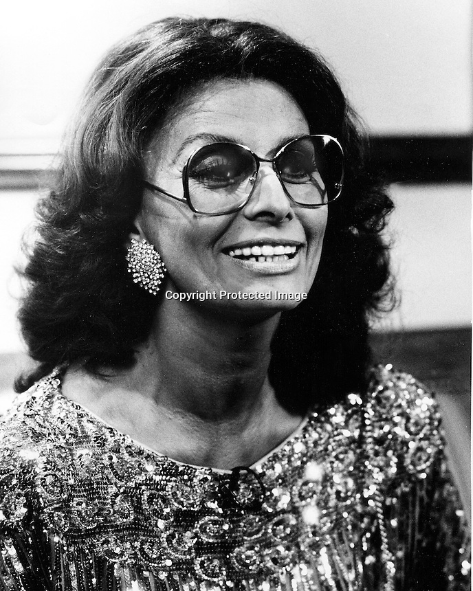 Actress Sophia Loren in San Francisco 1984.<br />