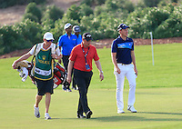 Danny Willett (ENG) on the 13th green during the Pro-Am for the DP World Tour Championship at the Jumeirah Golf Estates in Dubai, UAE on Monday 16/11/15.<br /> Picture: Golffile | Thos Caffrey<br /> <br /> All photo usage must carry mandatory copyright credit (© Golffile | Thos Caffrey)