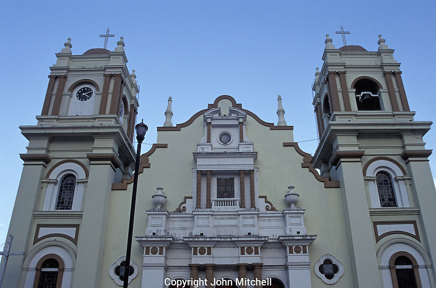 facade of the cathedral in San Pedro Sula Honduras