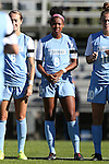 19 October 2014: North Carolina's Amber Munerlyn. The Duke University Blue Devils hosted the University of North Carolina Tar Heels at Koskinen Stadium in Durham, North Carolina in a 2014 NCAA Division I Women's Soccer match. North Carolina won the game 3-0.