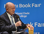 """MIAMI, FL - MAY 16: Dr. Eduardo J. Padrón during a conversation with former 2nd lady of U.S.A Dr. Jill Biden about her book """"Where the Light Enters: Building a Family, Discovering Myself"""" at Miami Dade College Presented in collaboration with the Miami Book Fair and Books and Books on May 16, 2019 in Miami, Florida. ( Photo by Johnny Louis / jlnphotography.com )"""