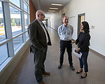 Microsoft president and chief legal officer Brad Smith meets with Fernley middle school student Sky in Fernley, Nevada on Tuesday, July 18 2017.