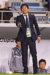Japan Head Coach Hajime Moriyasu gestures during the AFC Asian Cup UAE 2019 Quarter Finals match between Vietnam (VIE) and Japan (JPN) at Al Maktoum Stadium on 24 January 2018 in Dubai, United Arab Emirates. Photo by Marcio Rodrigo Machado / Power Sport Images