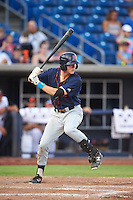 Bowing Green Hot Rods shortstop Michael Russell (22) at bat during a game against the Quad Cities River Bandits on July 24, 2016 at Modern Woodmen Park in Davenport, Iowa.  Quad Cities defeated Bowling Green 6-5.  (Mike Janes/Four Seam Images)