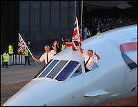 BNPS.co.uk (01202 558833)<br /> Pic: ChaucerAuctions/BNPS<br /> <br /> ***Please Use Full Byline***<br /> <br /> FYI: The last ever Concorde flight. <br /> <br /> Legendary airline pilot Mike Bannister is selling 100,000 pounds worth of his Concorde memorabilia so he can fund his daughter through flying school.<br /> <br /> Amy Bannister, 20, is hoping to following in her father's jet-stream to become a commercial airline pilot and is currently at a flight training school in Spain.<br /> <br /> The prestigious course is costing her a six figure sum.<br /> <br /> Her father Mike, 65, didn't want her burdened with debt at the start of her career and so stripped his study of Concorde relics, including cockpit instruments, and has put them up for sale at auction.