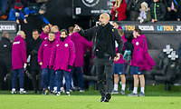 Manchester City manager Pep Guardiola at full time of the EPL - Premier League match between Swansea City and Manchester City at the Liberty Stadium, Swansea, Wales on 13 December 2017. Photo by Mark  Hawkins / PRiME Media Images.