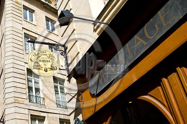 """PARIS - FRANCE - 08 MAY 2011 -- Paris travel city photos. -- Tea house """"Mariage Freres"""" Rue des Grands Augustins 13 -- PHOTO: Juha ROININEN / EUP-IMAGES"""