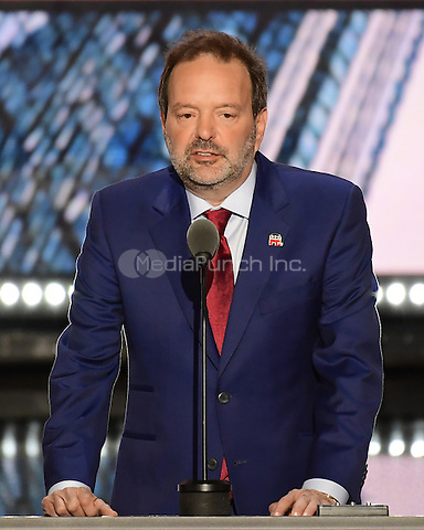 Businessman Andy Wist of Brooklyn, New York makes remarks at the 2016 Republican National Convention held at the Quicken Loans Arena in Cleveland, Ohio on Tuesday, July 19, 2016.<br /> Credit: Ron Sachs / CNP/MediaPunch<br /> (RESTRICTION: NO New York or New Jersey Newspapers or newspapers within a 75 mile radius of New York City)