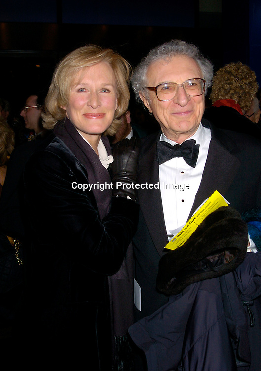 """Glenn Close and Sheldon Harnick ..at The Broadway opening of """" Fidler On The Roof"""" on ..February 26, 2004 at the Minskoff Theatre. Photo by ..Robin Platzer, Twin Images"""