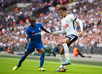 Tottenham's Dele Alli and Chelsea's N'Golo Kante during the Premier League match between Tottenham Hotspur and Chelsea at Wembley Stadium, London, England on 20 August 2017. Photo by Andrew Aleksiejczuk / PRiME Media Images.