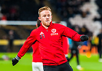 Sheffield United's midfielder Mark Duffy (21) during the Sky Bet Championship match between Hull City and Sheff United at the KC Stadium, Kingston upon Hull, England on 23 February 2018. Photo by Stephen Buckley / PRiME Media Images.