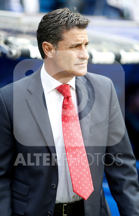 Sevilla's coach Michel during La Liga match. April 29, 2012. (ALTERPHOTOS/Alvaro Hernandez)