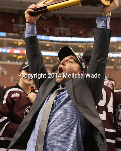 Theo DiPauli (Union - 13) - The Union College Dutchmen defeated the University of Minnesota Golden Gophers 7-4 to win the 2014 NCAA D1 men's national championship on Saturday, April 12, 2014, at the Wells Fargo Center in Philadelphia, Pennsylvania.